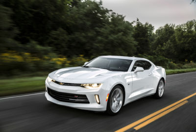 Less weight and more power combines for performance success. With weight savings of up to 390 pounds (177 kg), the all-new Camaro resets performance benchmarks for the segment. With the available, 335-hp (250 kW) 3.6L V-6 and eight-speed automatic, the Camaro zips to 60 mph in 5.1 seconds and down the quarter-mile in 13.5 seconds.